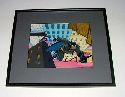 Rare 1995 Warner Brothers 3-D Sericel Animated Batman And Catwoman Action Scene