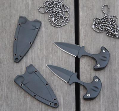 NEW EDC Mini Double Edge Dagger Fixed Blade Neck Knife Outdoor Camping Survival