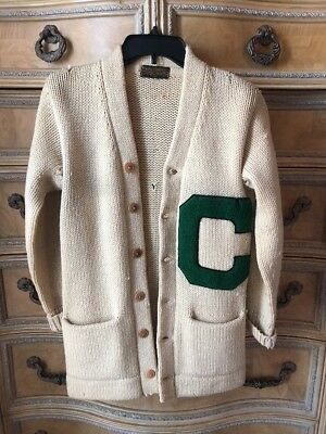 Antique Lowe & Campbell AthletIc Goods Letterman's Sweater - Black Label