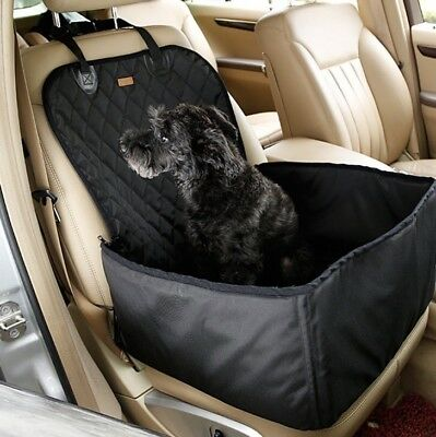2 in 1 Pet Dog Car Front/back Seat Waterproof Cover Safety Mat Protector Blanket