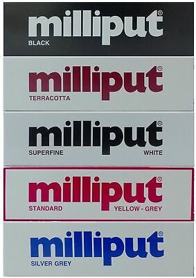 Milliput Epoxy Putty - STANDARD - TERRACOTTA - BLACK - SUPERFINE WHITE