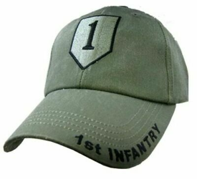 U.S MILITARY ARMY 1st INFANTRY DIVISION HAT STONEWASHED CAP