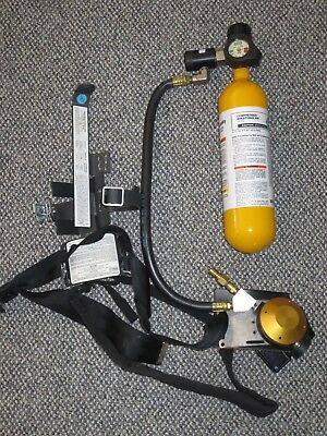 MSA Hip-Air Breathing Apparatus Tank, Regulator, Harness with Carrying Case