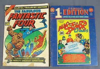 Famous 1st Edition All Star Comics #3 & Marvel Treasury #2 Fab Fantastic Four