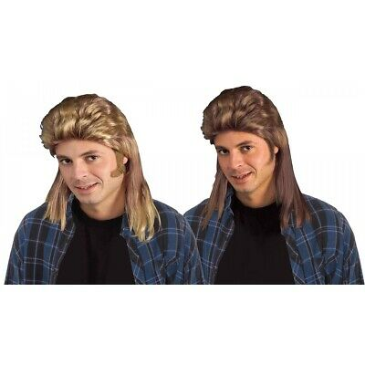 Long Mullet Wig Redneck Trailer Trash Hillbilly Joe Dirt Halloween Costume Acsy