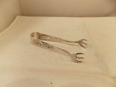 "Pair of Vtg Sterling Silver Sugar Tongs, Pre-Owned, 3 1/2"" Long, 15.8 Grams"