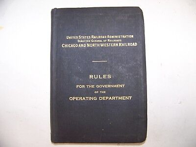chicago and NORTHWESTERN  RAILROAD CO.  RULES book 1915 antique old