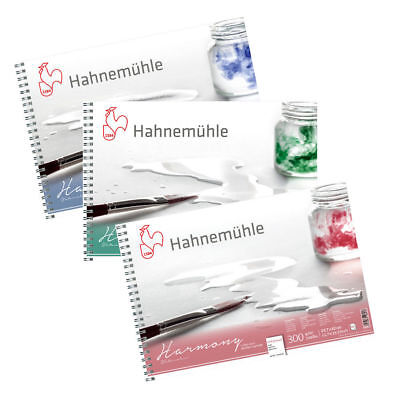 Hahnemuhle Harmony Watercolour Paper Spiral Pads (HP / NOT / ROUGH) - A4 or A3