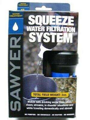 Sawyer SP129 Portable Pointone Squeeze Water Filtration System w/ 32 Oz. Pouch
