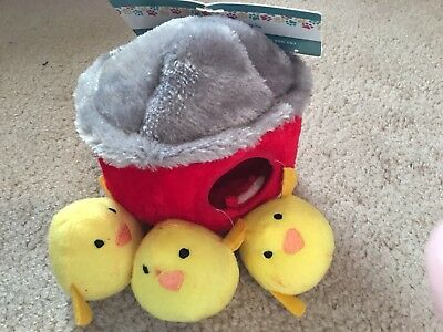 ZippyPaws Burrow Squeaky Hide and Seek Plush Dog Toy Chicken Hut