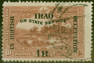 Iraq 1920 1R on 10pi Red-Brown SG028 Fine Used