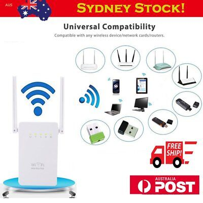 300Mbps Wireless Wifi Repeater Range Extender Signal Booster Router W/ Antenna