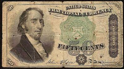 50 CENT FRACTIONAL CURRENCY GREEN SEAL DEXTER NOTE 1869-1875 PAPER MONEY Fr 1379