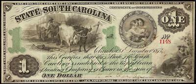 Unc 1873 $1 Dollar Bill South Carolina Note Large Currency Big Paper Money
