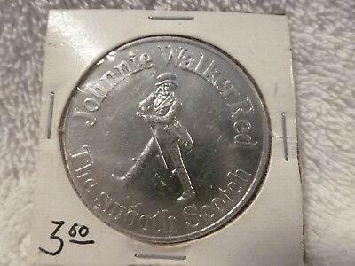 Vintage Johnny Walker Red  L.A. Rams 1972 Schedule Coin
