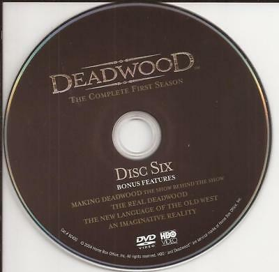 Deadwood (DVD) HBO First Season 1 Disc 6 Replacement Disc U.S. Issue Disc Only!