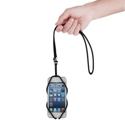 Universal Silicone Mobile Phone Lanyard Case Cover Holder Sling Neck Strap K6