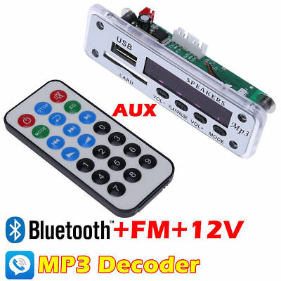 12V Integrated Bluetooth Hands-free MP3 Decoder Board ZTV-M01BT