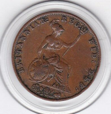 Sharp  1854  Queen Victoria   One  Half  Penny (1/2d)  Copper  Coin