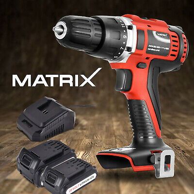 Matrix 20V Cordless Drill Driver Li-Ion Battery Charger Power Tool Skin & kit