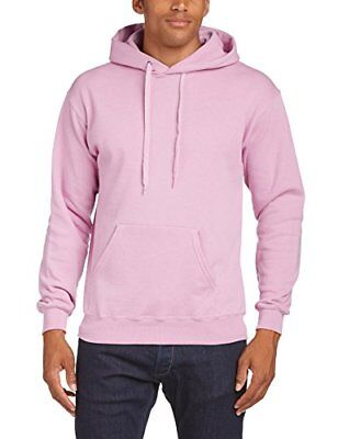 (TG. XL) Rosa (Pink) Fruit of the Loom - Felpa, Manica lunga, Uomo, rosa (Pink),