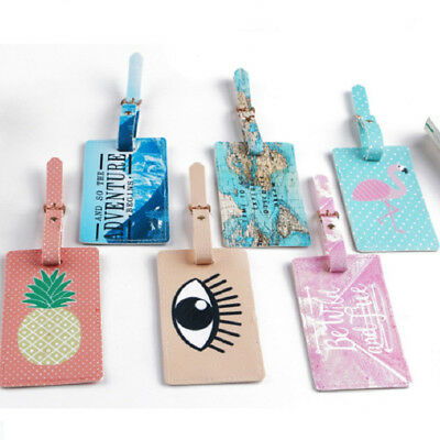 CO_ FH- Unique Pattern Suitcase Baggage Name Address ID Label Travel Luggage Tag