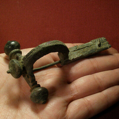 Roman Legionary Brooch / Fibula with Clamping Clip