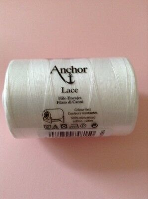 900m Reel Of White Anchor Lace Making Cotton 20 For Lace/Tatting/Crafts