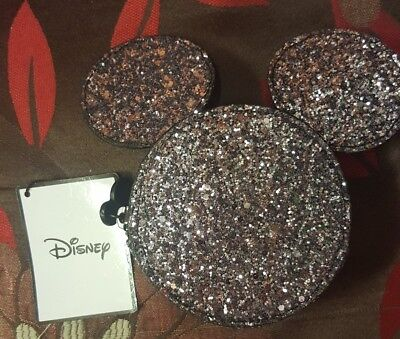 PRIMARK DISNEY MINNIE MICKEY MOUSE Sparkly Glitter ZIP Coin Purse PARTY Girls