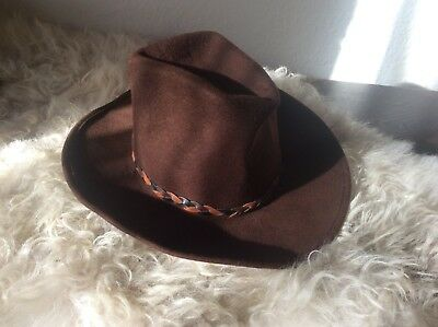 Ranch Western Wear Hut Original Cowboyhut 53cm Braun Made in USA