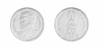 Thailand 5 Baht Km New King Rama X 2018 Lot 10 Coins Unc