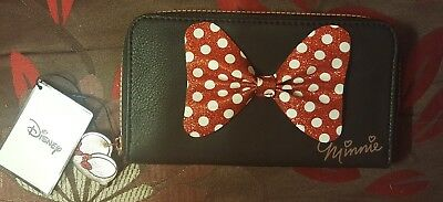 PRIMARK DISNEY MINNIE MOUSE BLACK BOW Wallet Purse Ladies Girls