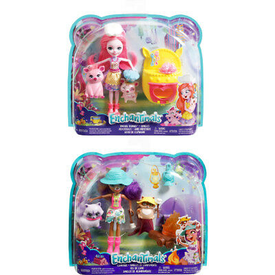 Enchantimals Doll & Animal Theme Pack Choose Baking Buddies or Campfire Friends