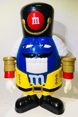 M&Ms Sweet Blue Nutcracker Candy Dispenser Holiday Soldier Limited Edition M M