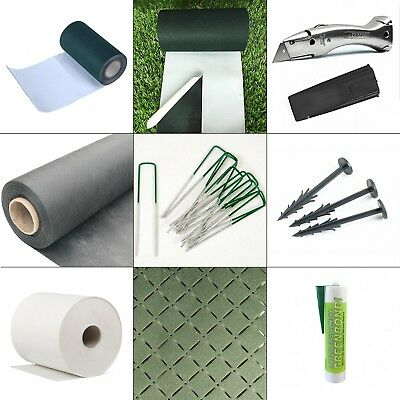 Artificial Grass Accessories, Weed Membrane, Pins, Pegs, Adhesive, Joining Tape
