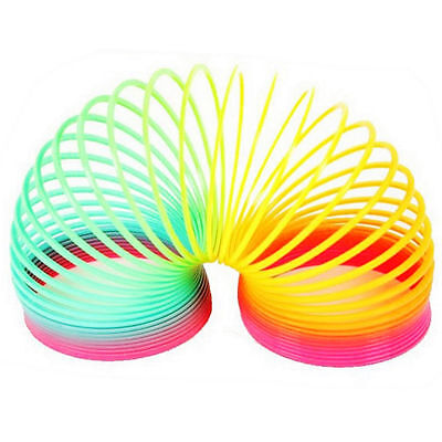 Magic Rainbow Coloured Plastic Spring Slinky Bouncy Children Gift Bag Fillers