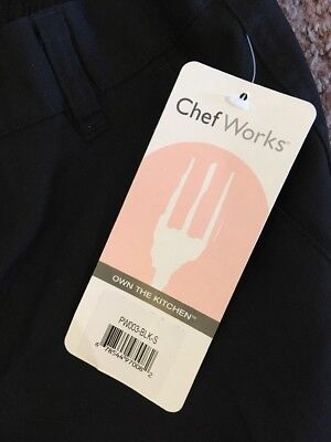 Chef Works Black Designer Work Pants Men's Size Small