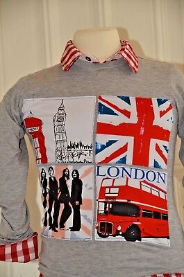 * LOVE MADE LOVE * Cooles Shirt, grau, London, Beatles, Gr. 10Y, 134/140 TOP