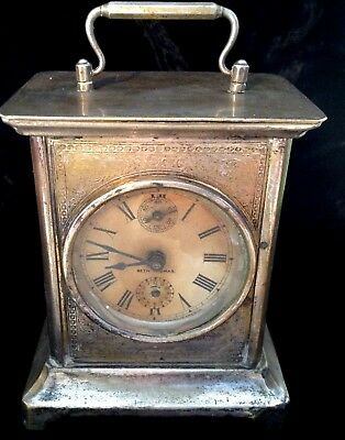 "Antique Seth Thomas Mantel Carriage Travel Alarm Clock Restoration 6""/15cm Tall"