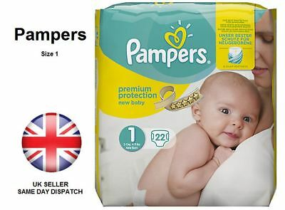 New Pampers Premium Baby Size 1 Hospital Carry Pack Soft Silky 2-5kg 4-11lbs