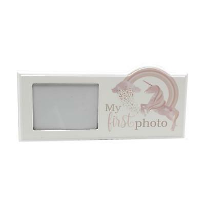 My First Photo Wooden Unicorn Baby Scan Photo Frame Gift Present Baby Girl Boy
