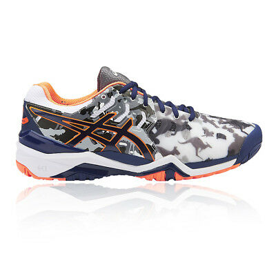 Asics Mens GEL-RESOLUTION 7 L.E. MELBOURNE Tennis Shoes Grey Sports Breathable