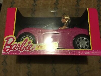New, in Package, Mattel Barbie Doll with Glam Convertible