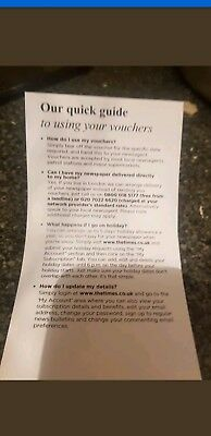 The Sunday Times Newspaper vouchers