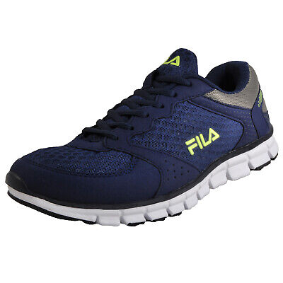 1cb40b01674 FILA COMET RUN Low Navy Mens Running Shoes Gym Workout Trainers ...
