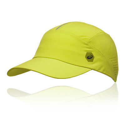 02a01e71485 Asics Unisex Running Cap Yellow Sports Breathable Reflective Lightweight