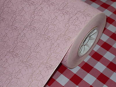 VTG 1950's CHRISTMAS STORE WRAPPING PAPER 2 YARDS GIFT WRAP PINK GOLD MCM ATOMIC