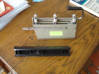 Boston 3 Hole Heavy Duty Metal Adjustable Hole Punch plus Another 3 Hole Punch