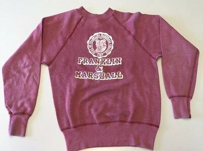 Vintage 1950's Franklin And Marshall College Crewneck Sweatshirt Champion Medium