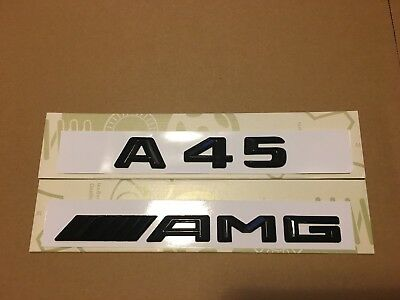 Mercedes A45 AMG Badge Emblem Decals New Style Gloss Black